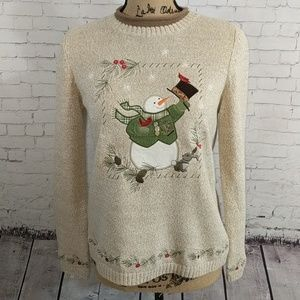 Christopher & Banks Holiday Snowman Sweater
